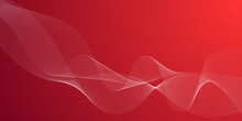 Elegant Abstract Smooth Swoosh Speed Red Wave Modern Stream Background. Vector Illustration