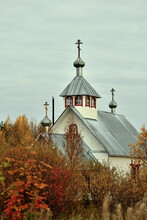 View Of The Wooden Church.