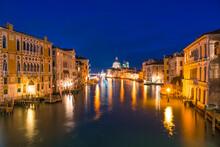 Dome Of Basilica Santa Maria Della Salute At Grand Canal In Venice, Italy
