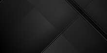 Black Abstract Diagonal Geometric Background With Dark Concept. Vector Illustration.