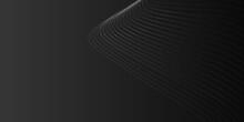 White Grey Wave Line On Black Gradient Background
