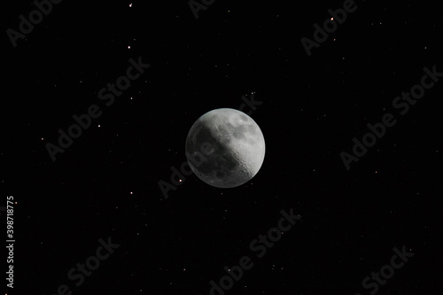 Canvas Print HDR Moon with stars
