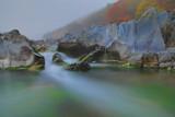 Fototapeta Na ścianę - UNESCO National Geopark, beautiful white stoned stream called baekseoktan in cheongsong, south korea