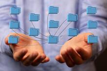 Cloud Computing, Cloud Computing And Big Data Concept, Cloud Computing Technology Internet Concept Background
