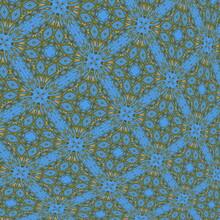 BLUE GREEN FLOWERS PATTERN