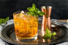 Boozy Refreshing Stinger Cocktail