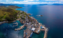 Aerial View Of Mallaig, A Port In Lochaber, On The West Coast Of The Highlands Of Scotland
