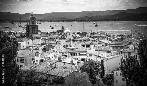 Canvas-taulu View over Saint Tropez in France located at the Mediterranian Sea at the Cote D