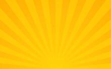 Sun Rays. Retro Sunburst Background. Vector Illustration