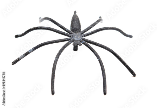 Fényképezés Spider toy isolated on a white background.