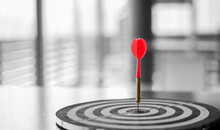 Dart Is An Opportunity And Dartboard Is The Target And Goal.So Both Of That Represent A Challenge In Business Marketing As Concept.