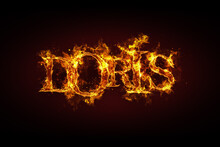 Doris Name Made Of Fire And Flames
