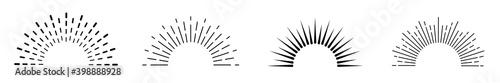 Fototapeta Sunburst set. Sunburst icon collection vector.Retro sunburst design.Big collection sunburst best quality. Burs.Sunrise rays light burst line shine sunshine sunbeam .Vector illustration. obraz