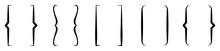 Bracket Icon Collection. Black Bracket Set. Set Of Text Brackets Design.Icons Vintage Typography Symbol.Vector Illustration