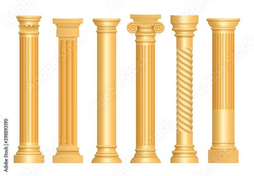 Golden antique column Tapéta, Fotótapéta