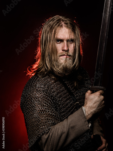 Canvas Print Medieval warrior
