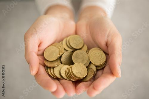 Fényképezés hands saving for the future