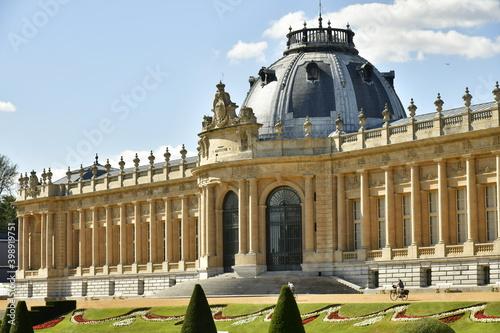 Billede på lærred L'imposant Musée National de l'Afrique Centrale avec sa rotonde et ses colonnade