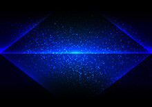 Abstract Vector Pyramid Blue Lighting Background Design. Illustration Vector Design.