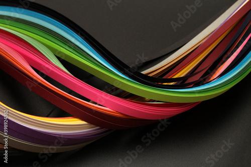 Fotografia Rainbow color strip wave paper