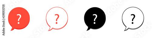 Fototapeta vector set of online help signs icons