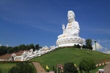 Statue Of Kuan Yin Goddess At Huay Pla Kung Temple, Chiang Rai Province