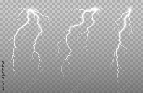 Obraz na plátne The power of lightning and shock discharge, thunder, radiance