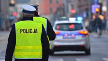 Policjant Ruchu Drogowego W Mieście.