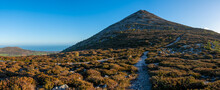 The Great Sugarloaf Mountain In Wicklow Ireland. Great Treking Time And Outdoor Activities Idea.