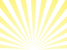 Sunlight Abstract Yellow Rays Background. Bright Yellow Color Burst Backdrop Vector Illustration.