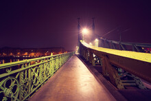 Evening View Of Libery Bridge In Budapest