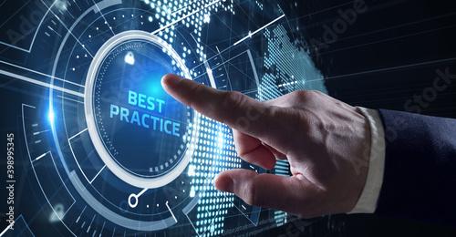 Fototapeta Business, Technology, Internet and network concept. BEST PRACTICE successful business concept. obraz
