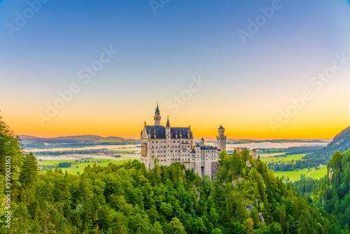 Fototapeta Neuschwanstein Castle at sunrise southwest Bavaria, Germany