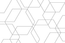 Abstract Background Pattern Made With Lines Forming Hexagon Shapes. Modern, Simple And Minimal Vector Art.