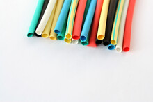Multi Color Heat Shrink Tubing. Tubes For Insulating Electrical Connections.