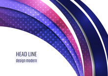 Abstract Wave Background With Copy Space. For Business Technical Design Templates, Web Design, Presentations. Vector