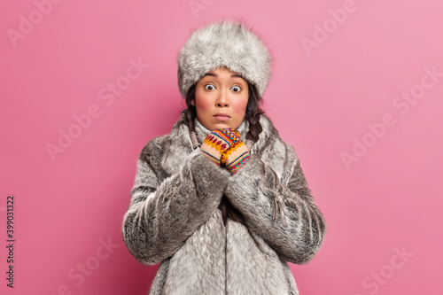 People winter fashion concept Wallpaper Mural
