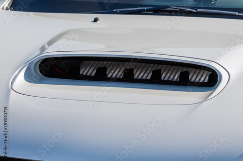 Canvas Print 自動車の空気取り入れ口 Air intake of private car