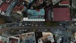 Aerial Top down view of Urban Streets and Houses in Istanbul. 4K Footage in Turkey.