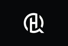 QH Logo Letter Design On Luxury Background. HQ Logo Monogram Initials Letter Concept. QH Icon Logo Design. HQ Elegant And Professional Letter Icon Design On Black Background. Q H HQ QH