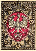 Orzeł Biały - Polska Krajowa Kasa Pożyczkowa - Fragment Banknotu 1 Marka Polska Z Datą 9 Grudnia 1916 / 1917