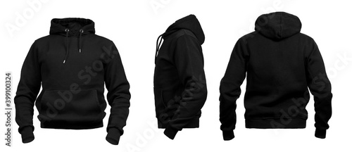Fotografía Blank invisible mannequin with black hoodie template for design mock up for prin