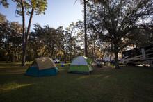 Enjoying The Campground At Salt Springs State Park In Florida