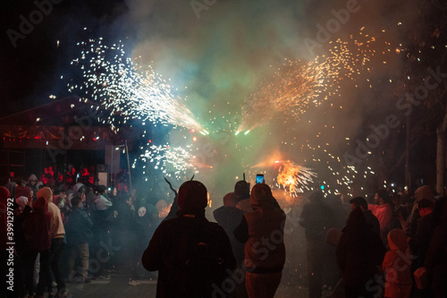 Fotografiet Fiesta de los Demonios , Palma de Mallorca , España