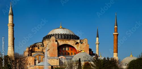 hagia sophia, Sultanahmed square. Istanbul, Turkey Fototapeta