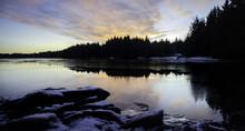 Sunrise Over Port Lions, Alaska