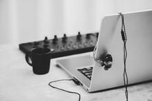 Closeup Wired Earphones