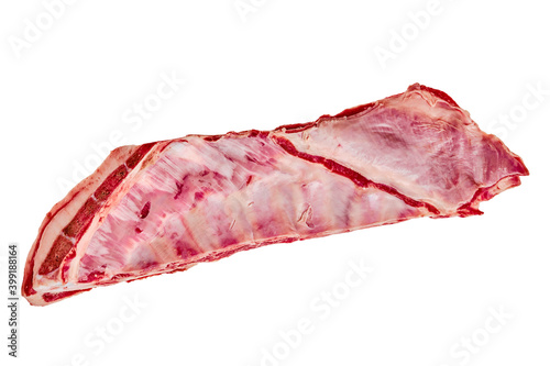 Fresh raw lamb breast and flap isolated on white Fototapete