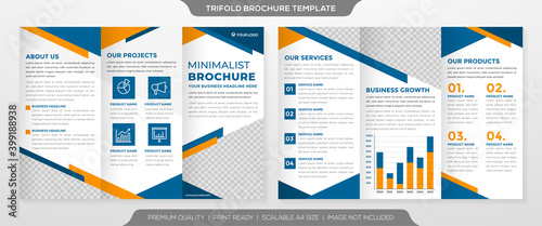 Fototapeta business annual report template with clean and minimalist style use for business brochure and proposal obraz