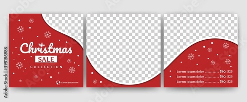 Fotomural Editable social media banner puzzle template